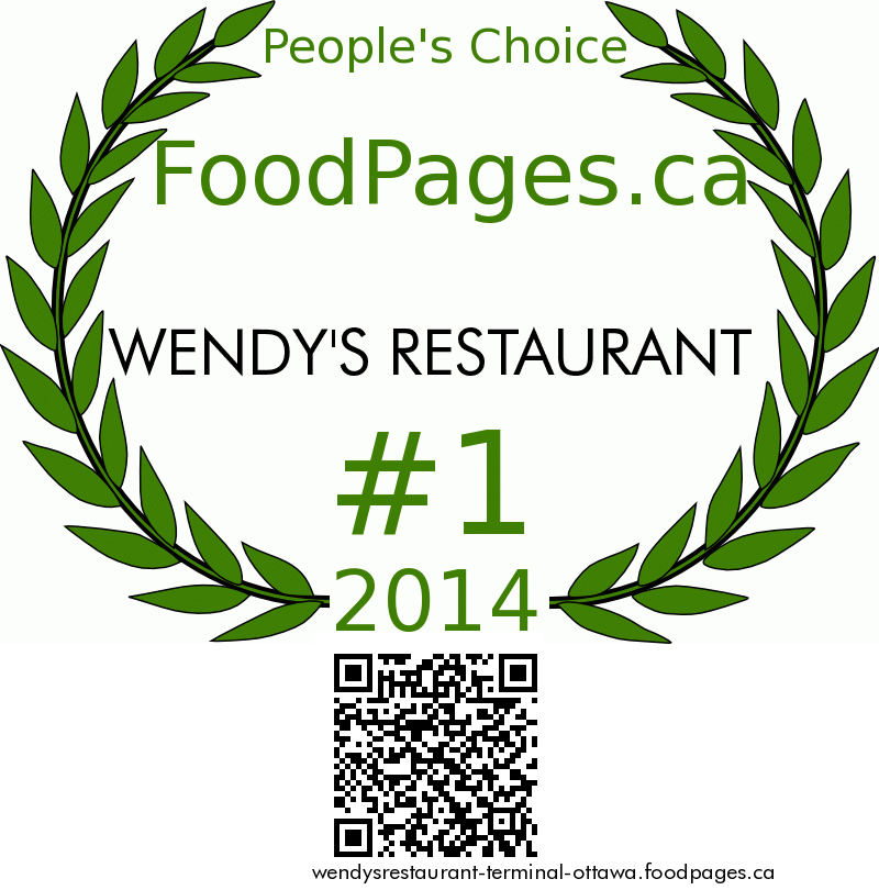 WENDY'S RESTAURANT FoodPages.ca 2014 Award Winner